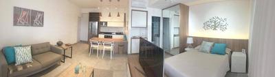 Apartamento Planejado, Mobiliado E Decorado De 1 Suíte Com Vista Mar E Serviços De Flat - Ap3838