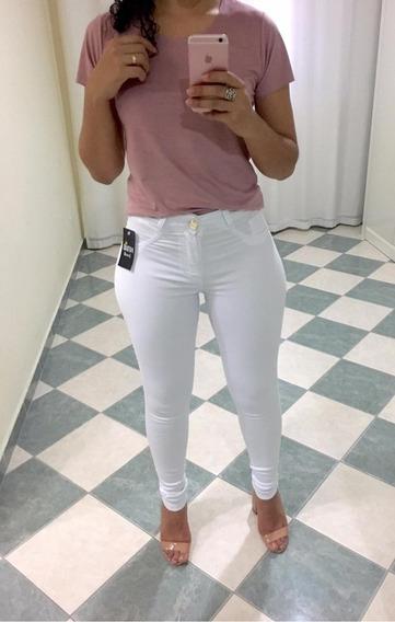 Kit 2 Calça Feminina Branca Jeans Enfermagem Raiox Medicina