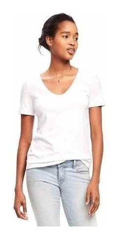 Camiseta Old Navy Blanca Cuello V