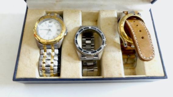 Relógio Dumont Com Três Pulseiras