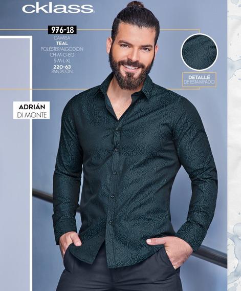 Camisa Teal Caballero Mod. 976-78 Oi 2019