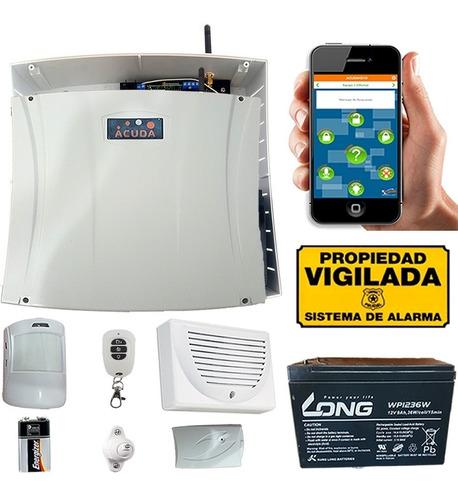 Panel De Alarma Gsm Inalambrica C/pir/control/sirena/bateria
