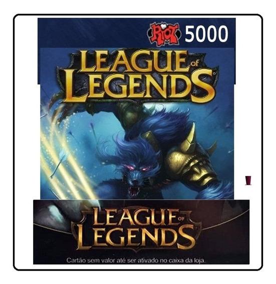 League Of Legends Lol - Cartão 5000 Riot Points