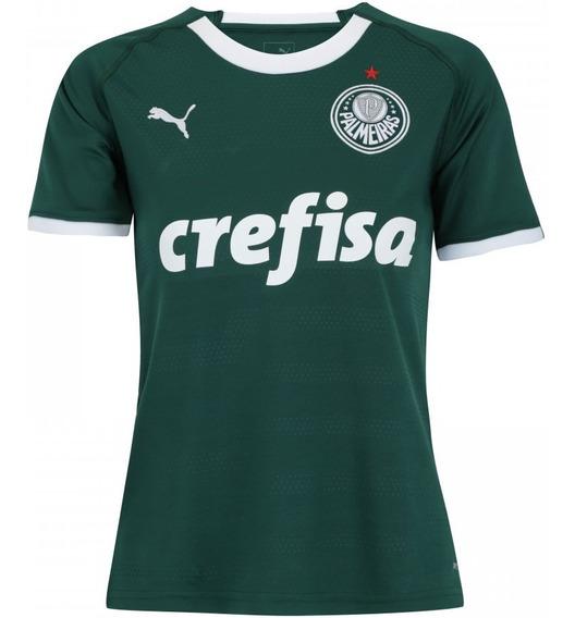 Camiseta Blusa Feminino Palmeiras Verde Mega Saldão Adquira