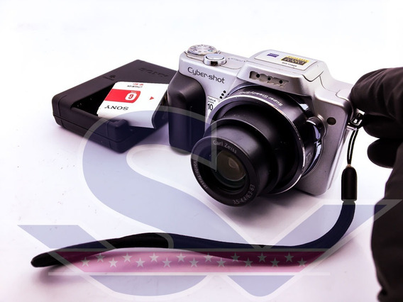 Camera Dsc H10, Carregador E Bateria Sony Cód Int: 003