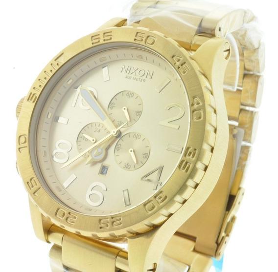 Relógio Nixon The 51-30 Chrono All Gold 12 X S/juros