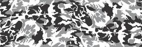 Adesivo Camuflado Cinza Preto Branco 1,90x0,50