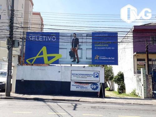 Terreno À Venda, 1500 M² Por R$ 2.000.000,00 - Ponte Grande - Guarulhos/sp - Te0248