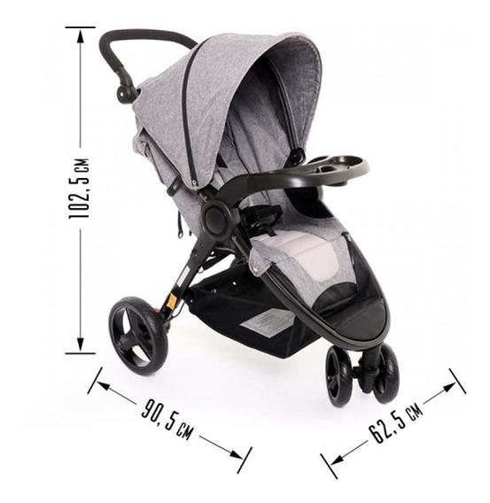Carrinho De Passeio De Bebê Triciclo 3 Rodas Até 15kg Dican