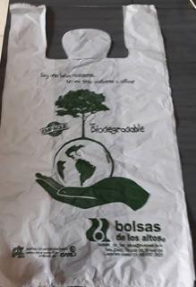 Bolsa Biodegradable Camiseta Mediana Con Envio Gratis 1 Kg