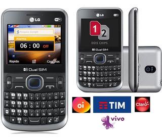 Celular Lg C397,qwerty,2chip,simples,anatel,lacrado,wifi,fm