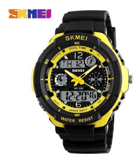 Relógio Militar Skmei Cronometro Mergulho Casual Original