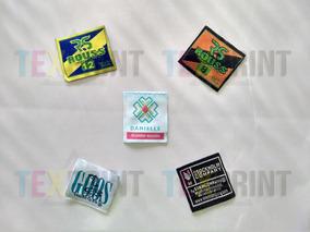 1000 Etiquetas Tejidas / 2cm X 2.5cm / Cortadas