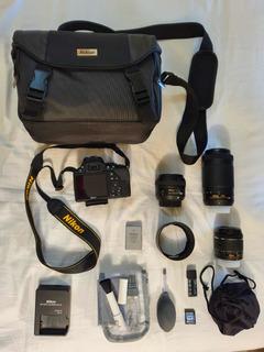 Cámara Fotográfica Nikon D3500 Y Lente 50mm 1.8 Etc.