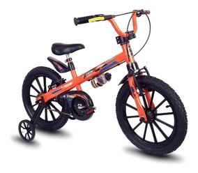 Bicicleta Infantil Aro 16 Laranja/preta Extreme - Nathor