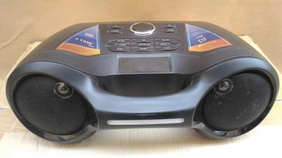 Som Portátil Boombox 10w Rws Fm Sd Card Usb Alarme Bluetooth