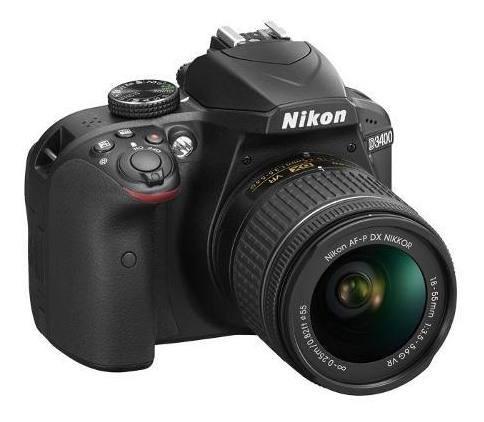 Câmera Profissional Nikon Dslr D3400 Com Lente Af-p 18-55 Vr