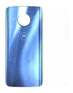 Tampa Vidro Traseiro Motorola Moto G6 Plus Xt1926 Azul