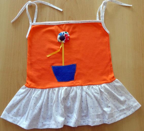 Soleritas Para Nena Con Aplique - Modelo Flor De Colores