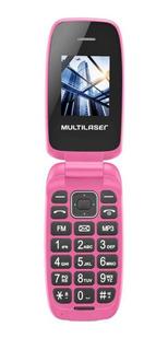 Multilaser Flip Up Dual SIM 32 MB Rosa 32 MB RAM