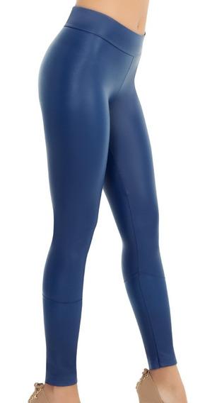 Legging Vinipiel Azul Talla Grande Casual Sexy Ilusion Marca
