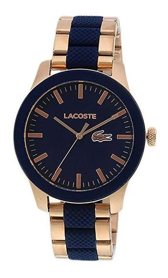 Relógio Lacoste Original Preto E Rose
