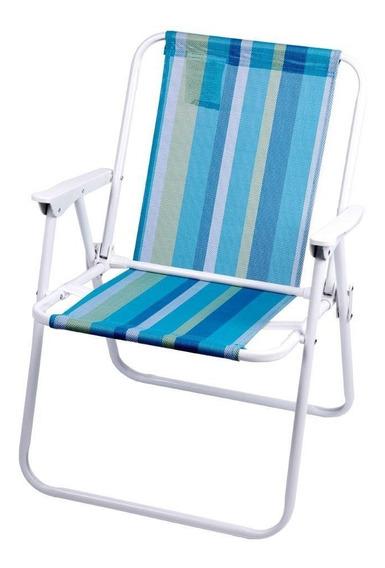 Cadeira De Praia Azul E Verde - A/casa