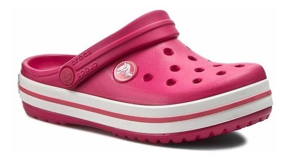Crocband Raspberry Wht