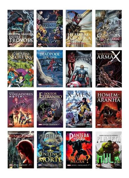Kit 16 Livros - Super Heróis Marvel - Edição Econômica #