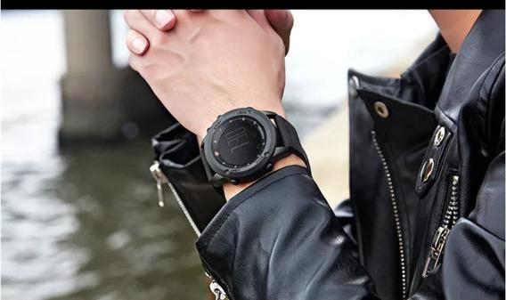 Relógio Digital Masculino Luxo Pulseira Em Couro Original