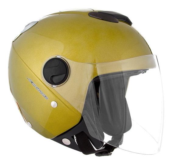 Capacete Protork New Atomic Solid Amarelo .