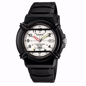 Relógio Casio Pequeno Preto Analógico Com Data Hda600bvdf