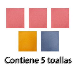 Toalla Varios Colores 5 Piezas Dexdex.