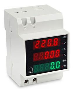 Medidor Monofásico Digital Eléctrico Voltimetro Amperim 220v