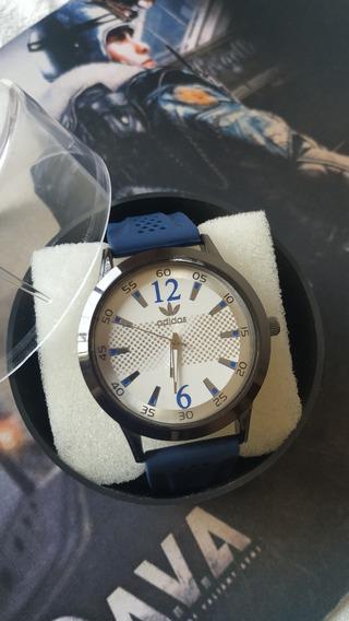 Relógio Masculino Pulseira Azul Estiloso E Moderno Promoção