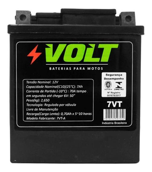 Bateria Moto Cbx 200 Strada Volt Selada 7ah 12v