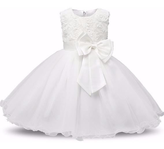 Vestido Infantil - Dama De Honra - Festas - Branco