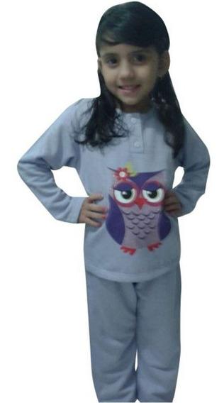 Pijama Infantil Menina Moletinho Aflanelado 2 A 14 Anos