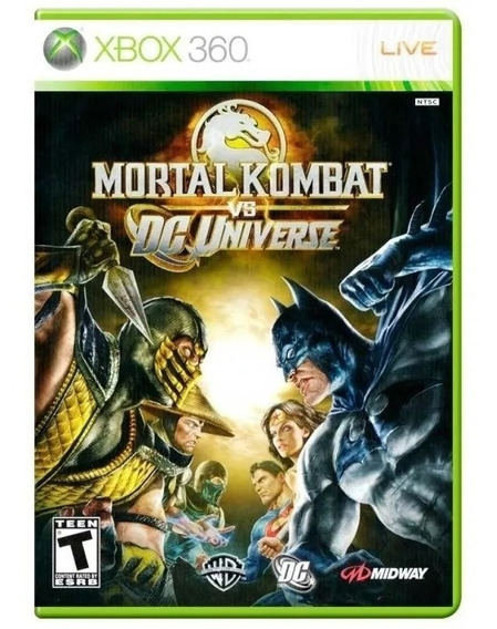 Mortal Kombat Vs Dc Universe Xbox 360 Mídia Física Novo