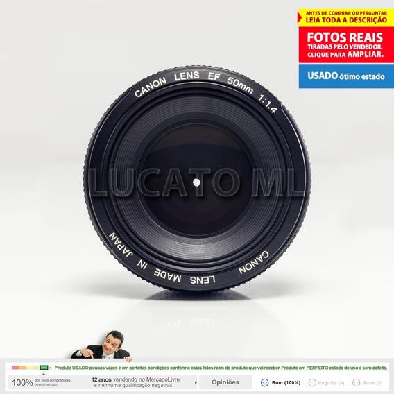 Lente Fixa Canon Ef 50mm F1.4 Ultrasonic - 12x Sem Juros