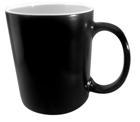 Taza Magica Tlp Negro Brillante De 11oz Lista Para Sublimar 36pzs F