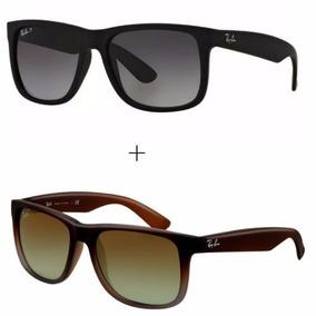 210a8f9fa Oculos De Sol Justin Kit Com 2 Oculos Preto Mar Masculino Rb