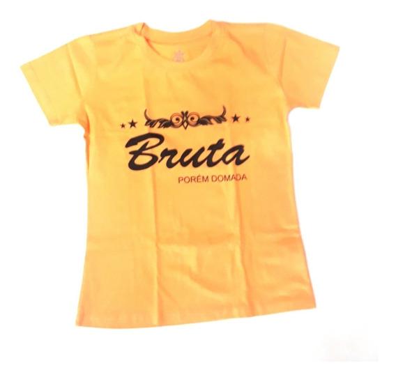 Camisa Blusa Fem Malha Country Top Bulls Baby Look Bruta