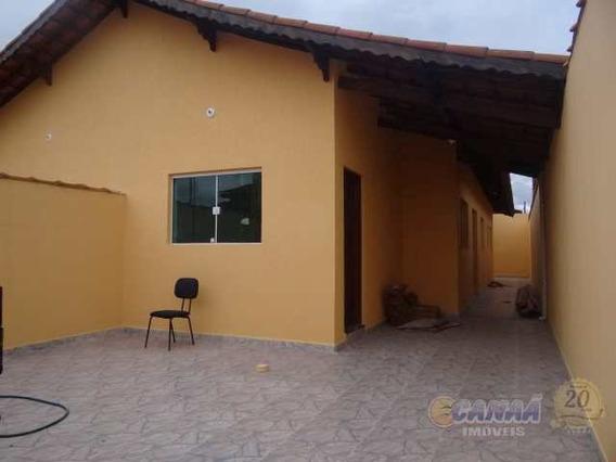 Casa Em Mongaguá, Bairro Residencial A 600 Metros Do Mar V6645