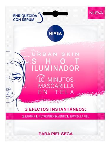 Mascara Nivea Urban S.shot Ilumina Facial 1un Piel Seca