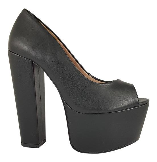 Sapato Feminino Salto Alto Grosso Dom Amazona Cód 54
