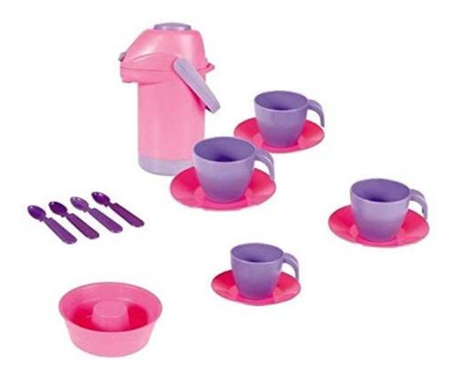 Kit Café Com Bolinho Infantil - 15 Pcs Brinquedo Meninas