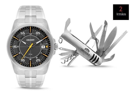 Kit Relógio Orient Masculino + Canivete Mbss1315
