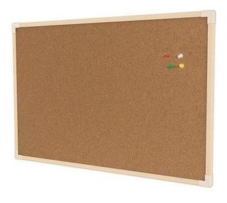Quadro Cortiça 90x60 Cm Aviso Fotos Mural Madeira + Tachinha