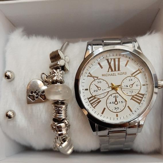 Lindos Kits De Relógios Com Pulseira,anel Ou Brinco.